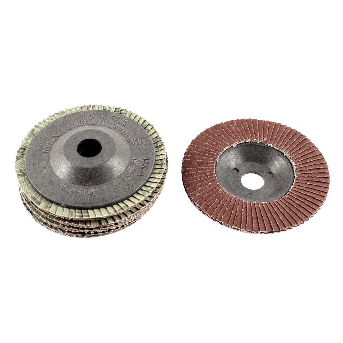 "5pcs 4"" x 5/8"" Zirconium Oxide Flap Sanding Discs Polish Grinding Wheel 120 Grit"