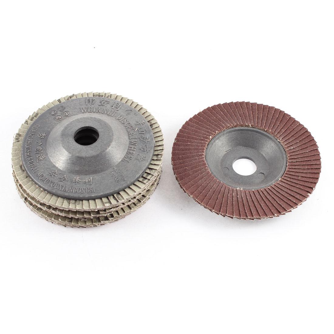 "Stainless Steel Metal 4"" x 5/8"" Flap Sanding Discs Grinding Wheel 240 Grit 5pcs"