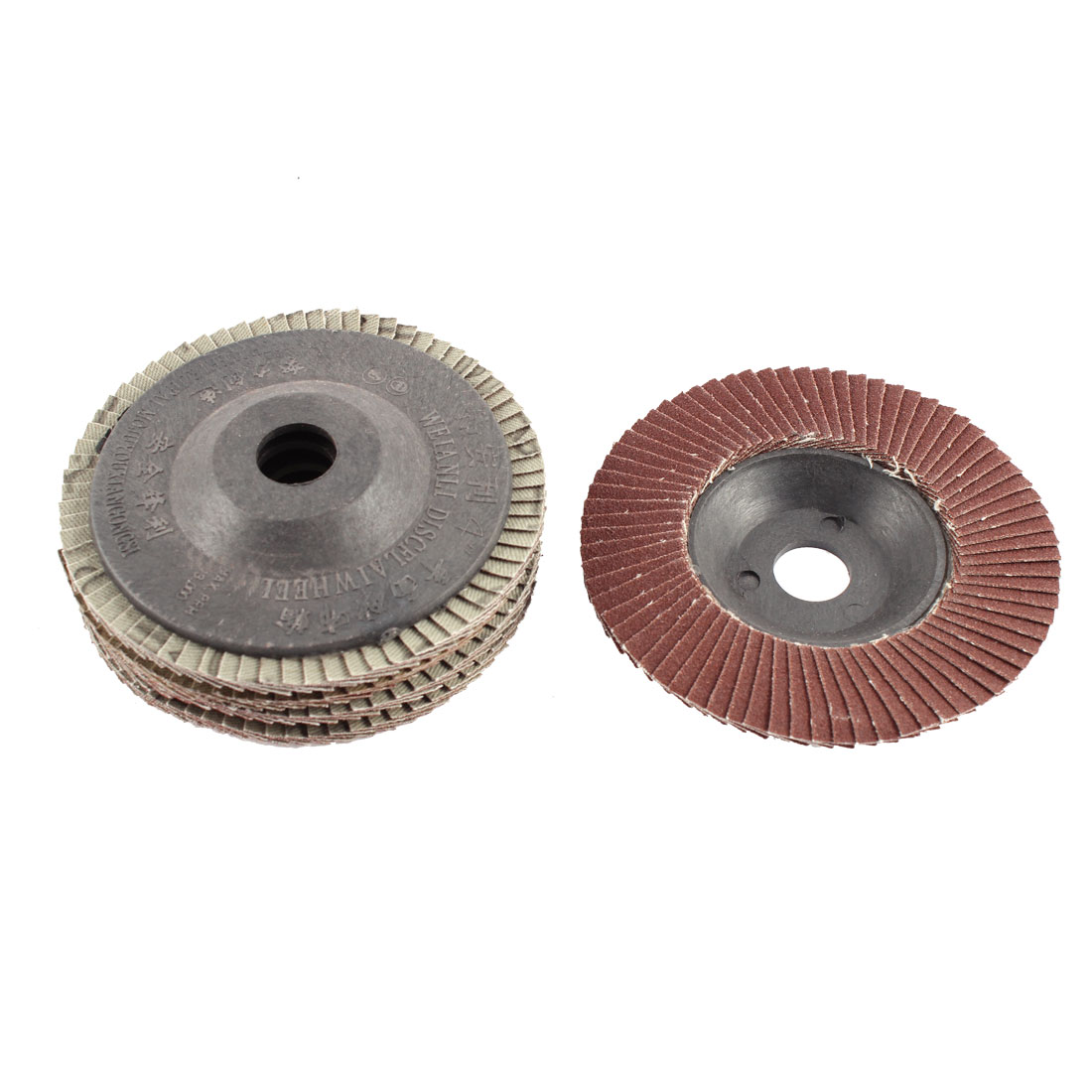 "5pcs 4"" x 5/8"" Zirconium Oxide Flap Sanding Discs Polish Grinding Wheel 320 Grit"