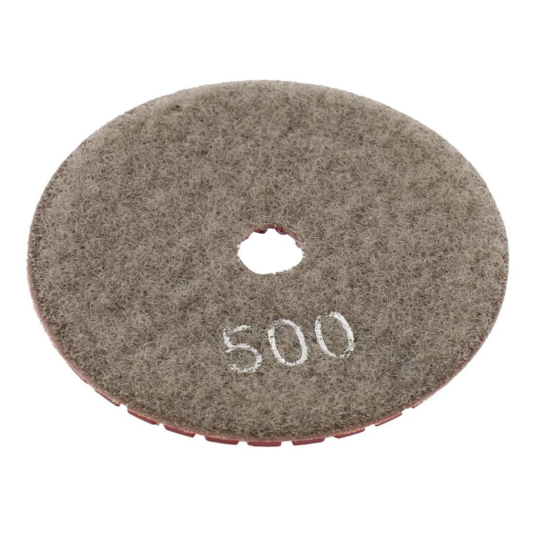 "Wet Dry Granite Concrete Marble Grinder Diamond Polishing Pad 3"" Red Gray"