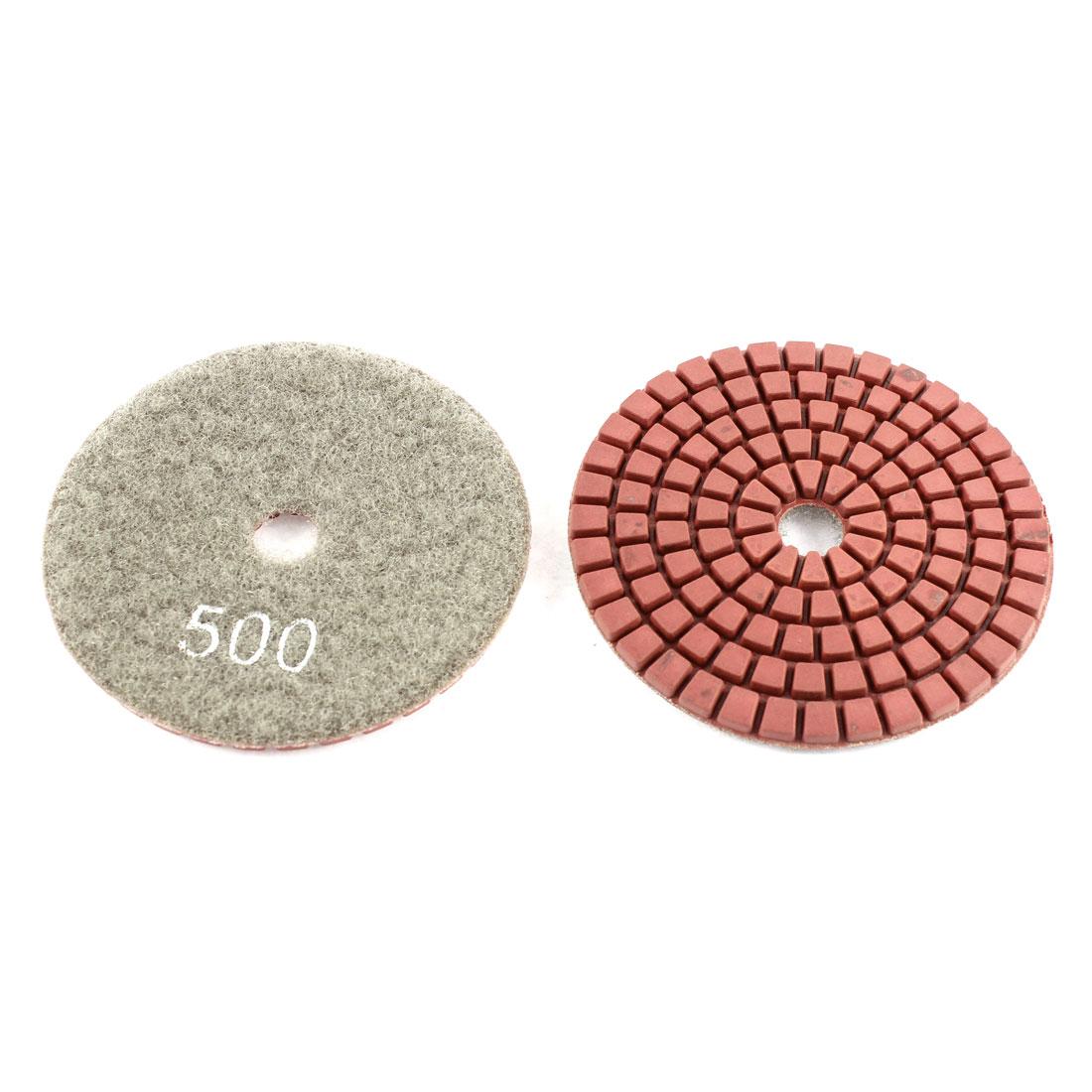 "2pcs Wet Dry Granite Concrete Marble Diamond Polishing Pad Polisher 3"" Red Gray"
