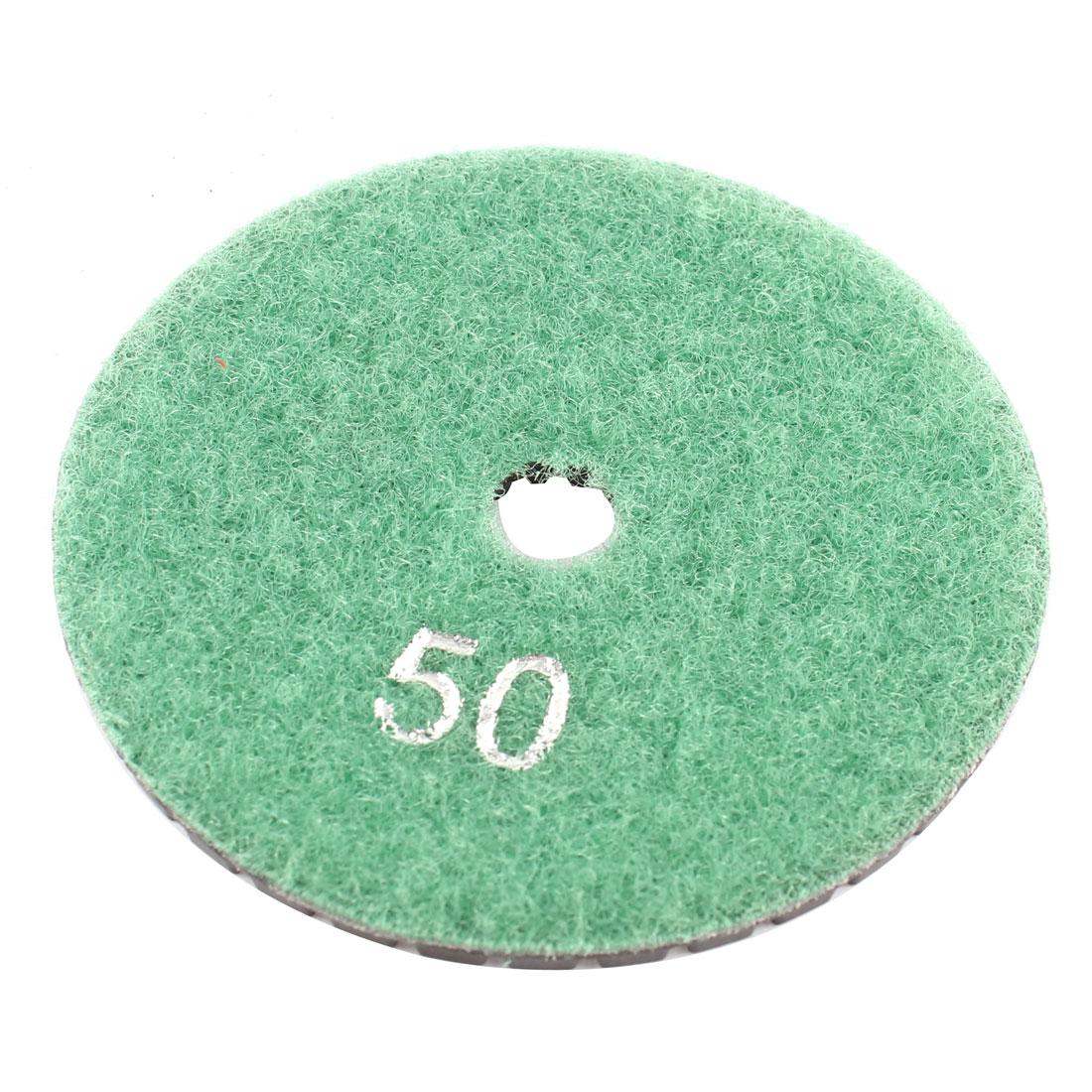 "Wet Dry Granite Concrete Marble Grinder Diamond Polishing Pad 3"" Green Black"