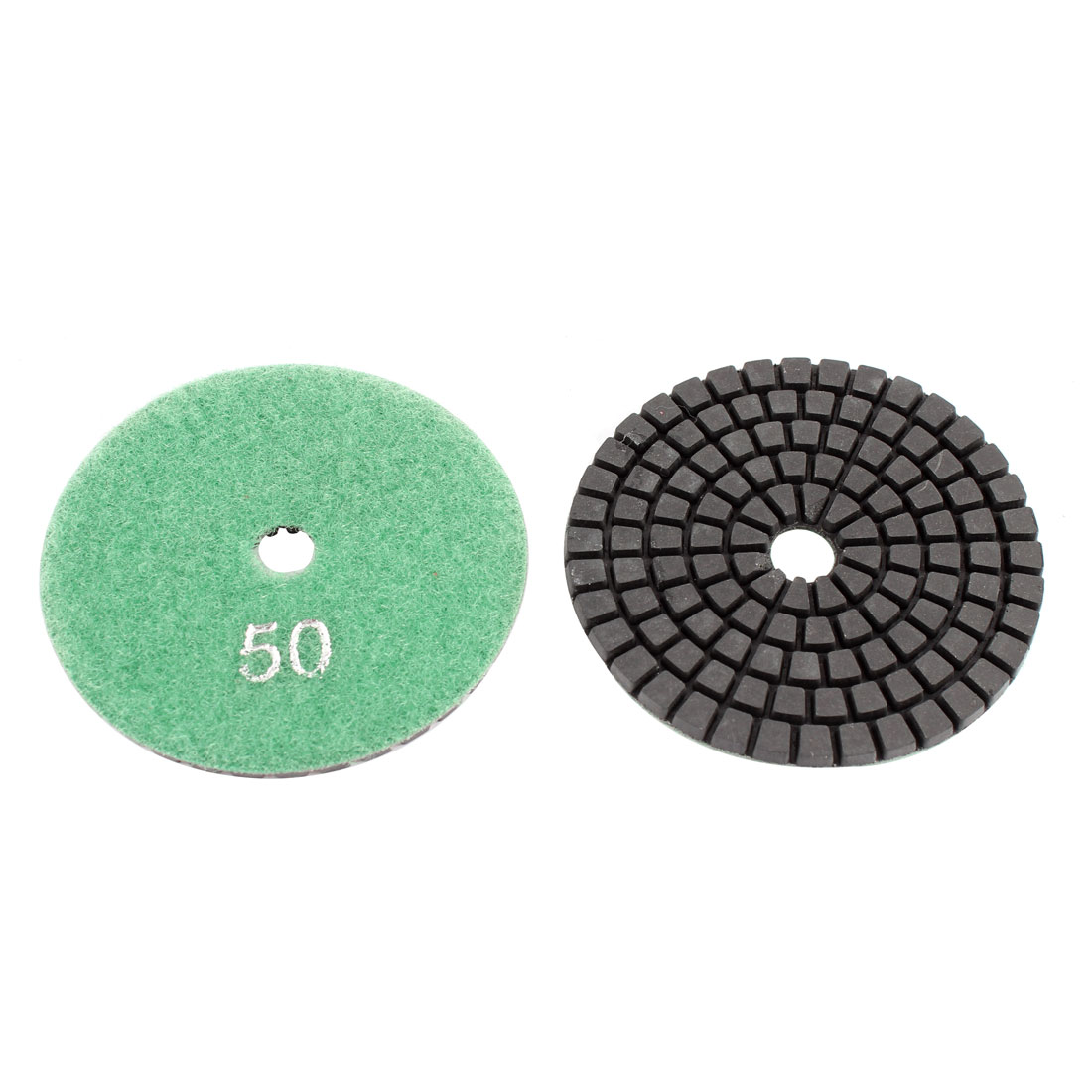 2pcs Wet Dry Granite Concrete Marble Stone Diamond Polishing Pad Polisher 3""