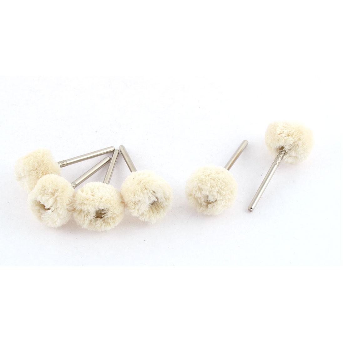20mm Dia Soft Wool Rotary Tool Jewellery Buffing Polishing Wheel Brush 6pcs
