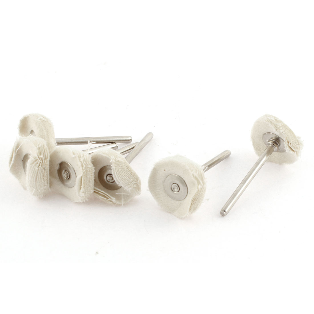 Rotary Tool Jewelry Buffing Cleaning Mop 25mm White Cloth Polishing Wheels 6pcs