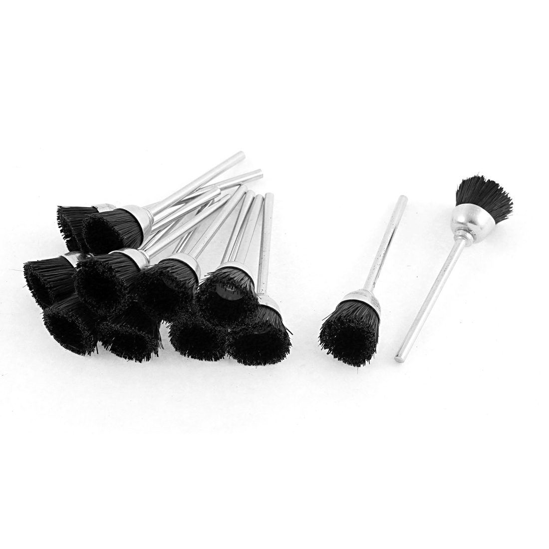 Black Nylon Bristle Polishing Brushes Jewelry Cleaning Buffing Tools 12pcs