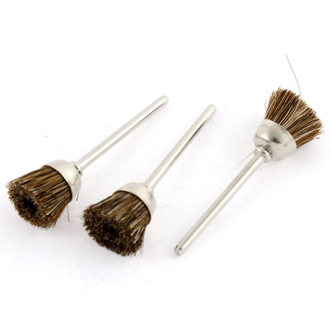 Brown Nylon Bristle Polishing Brushes Jewelry Cleaning Buffing Tools 3pcs