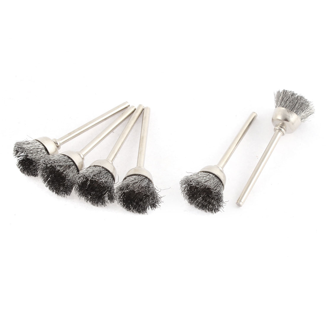 Silver Tone Steel Wire Polishing Brushes Jewelry Cleaning Buffing Tools 6pcs