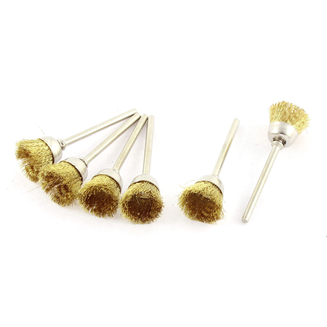 Gold Tone Brass Wire Polishing Brushes Jewelry Cleaning Buffing Tools 6pcs