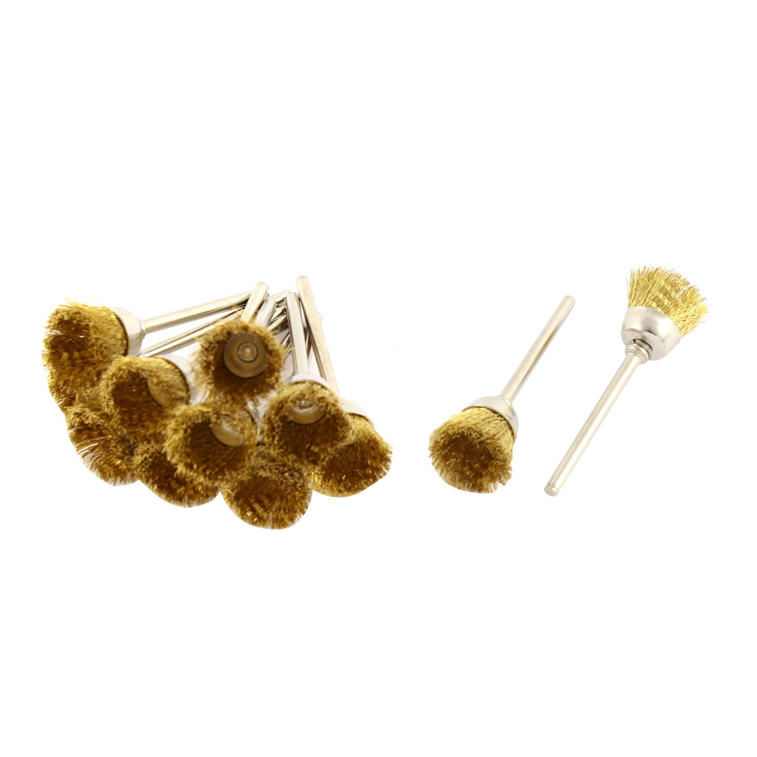 Gold Tone Brass Wire Polishing Brushes Jewelry Cleaning Buffing Tools 12pcs