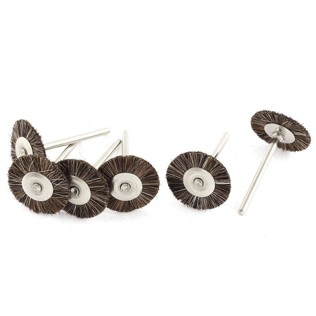 "Rotary Tool 1"" Bristle Head Jewelry Buffing Polishing Wheels Brushes Brown 6PCS"