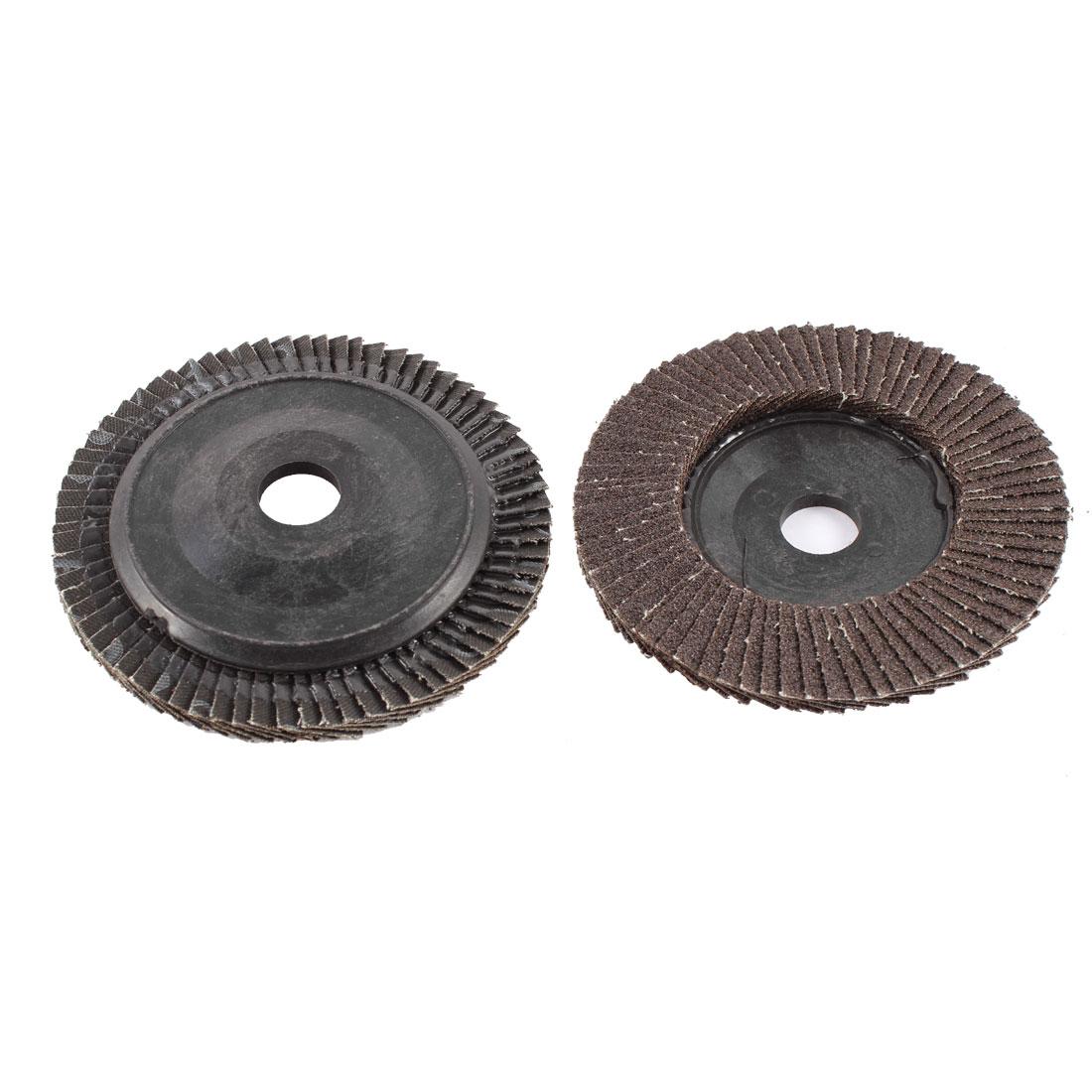 "2pcs 4"" x 5/8"" Zirconium Oxide Flap Sanding Discs Polish Grinding Wheel 60 Grit"