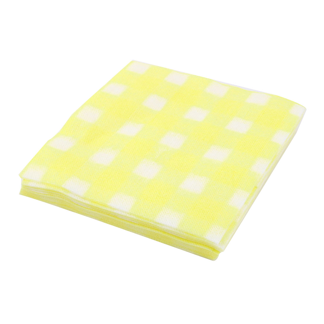 Facial Wipe Clean Spa Hair Salon Disposable Beauty Towel 18 x 18cm 60pcs Yellow