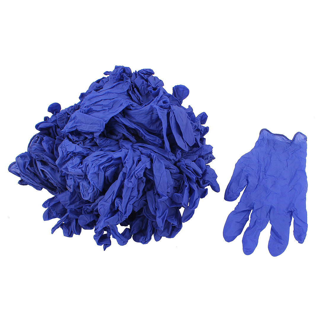 50Pairs Tattoos Piercing Disposable Latex Gloves Size M Purple