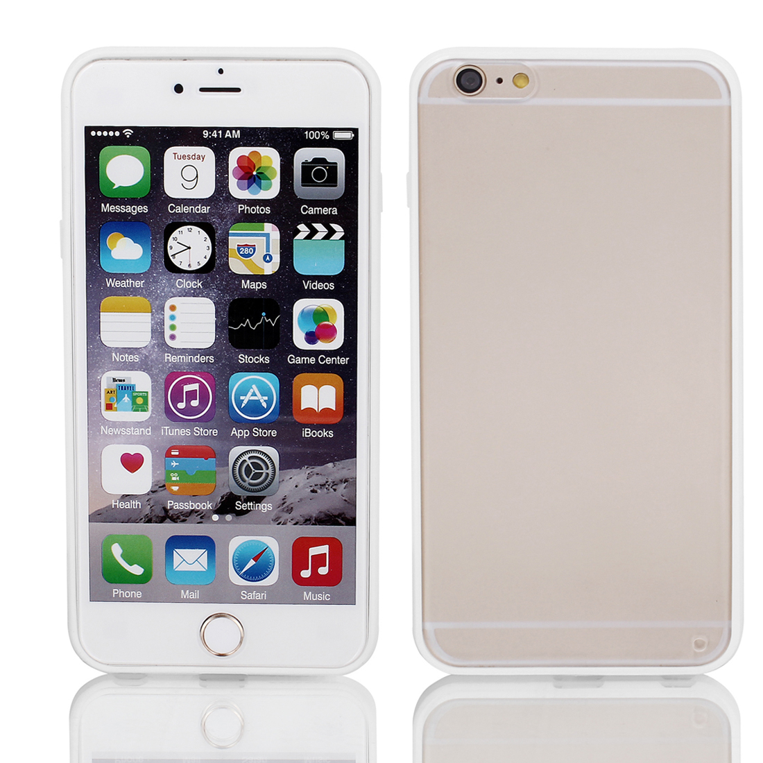 Frosted Bumper Case Cover Protector Clear White for Apple iPhone 6 Plus 5.5""
