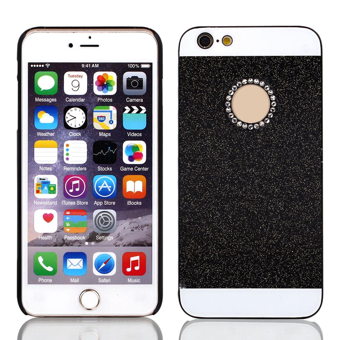 "Rhinestone Inlaid Thin Phone Back Cover Black for iPhone 6 Plus 5.5"""