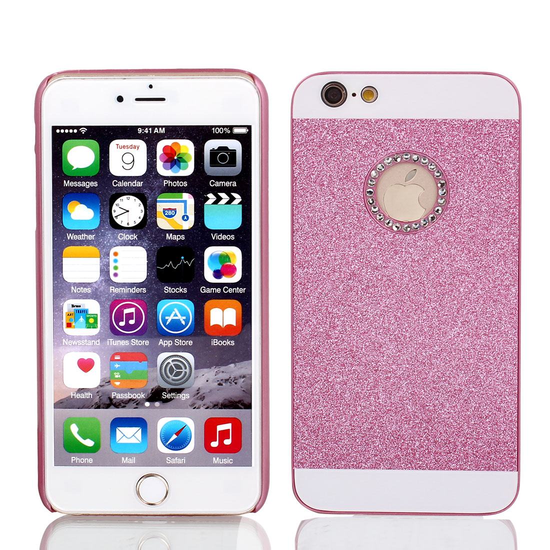 Glitter Powder Phone Skin Cover Purple Fuchsia for iPhone 6 Plus 5.5""
