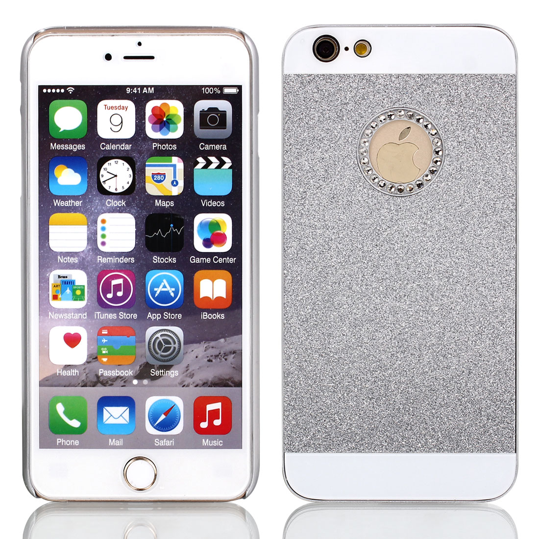 Plastic Glitter Slim Hard Phone Skin Covers for iPhone 6 Plus 5.5""