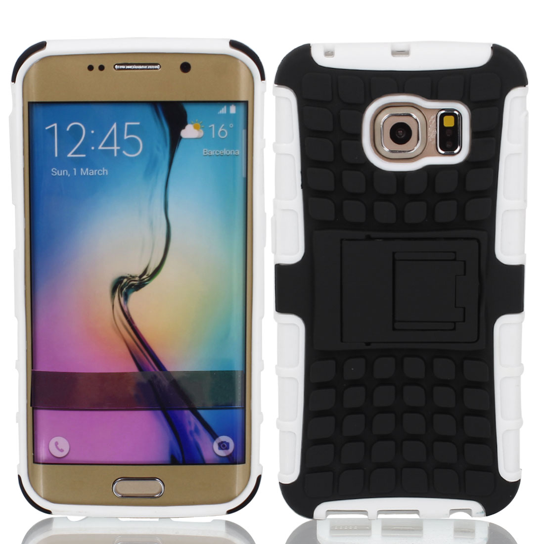 Shockproof Tough Rugged Hard Stand Case Cover Protective for Galaxy S6 Edge