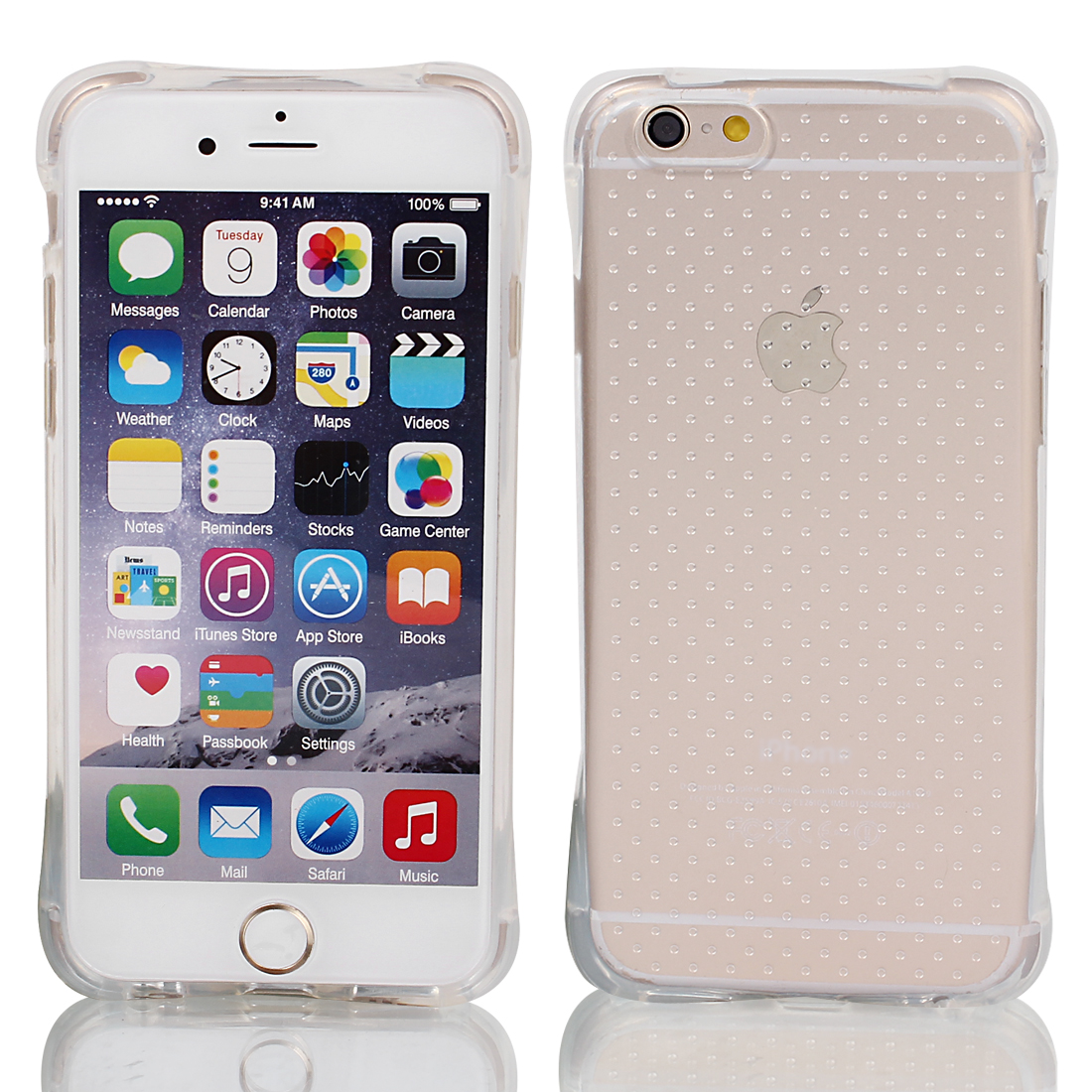 Soft Silicone Clear Mobile Phone Case Cover Skin for iPhone 6 4.7""