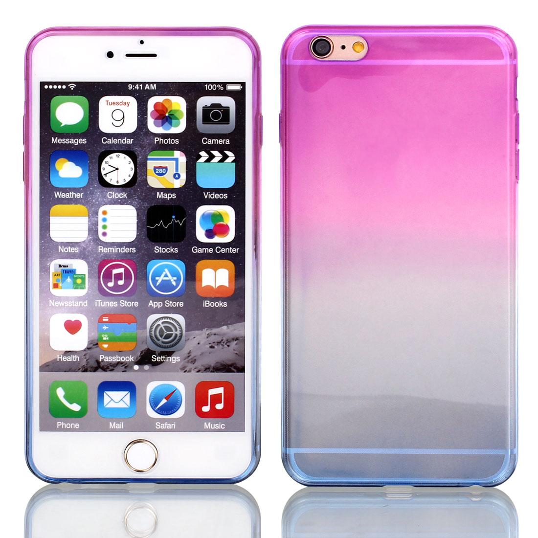 "Fuchsia Blue Gradient TPU Ultra Slim Case Cover for Apple iPhone 6 Plus 5.5"""