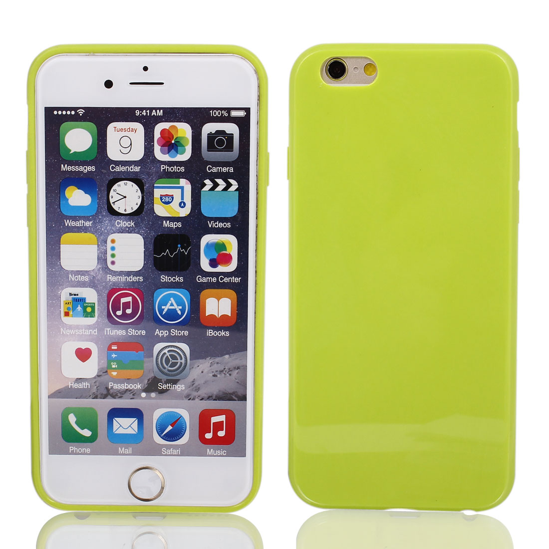 Silicone Protector Rugged Cover Case Green + Film for Apple iPhone 6 4.7""