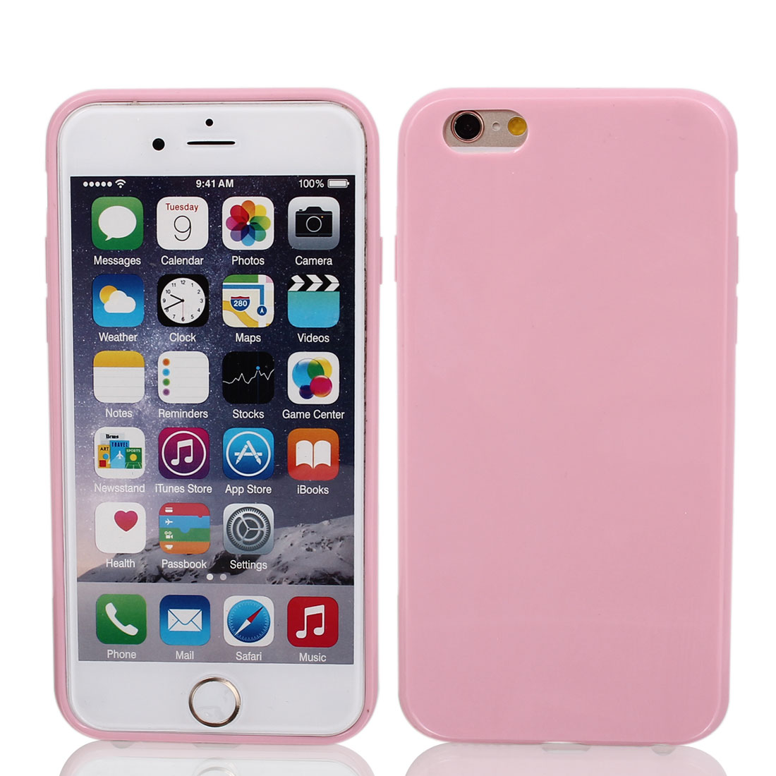 Silicone Protector Rugged Cover Case Pink + Film for Apple iPhone 6 4.7""