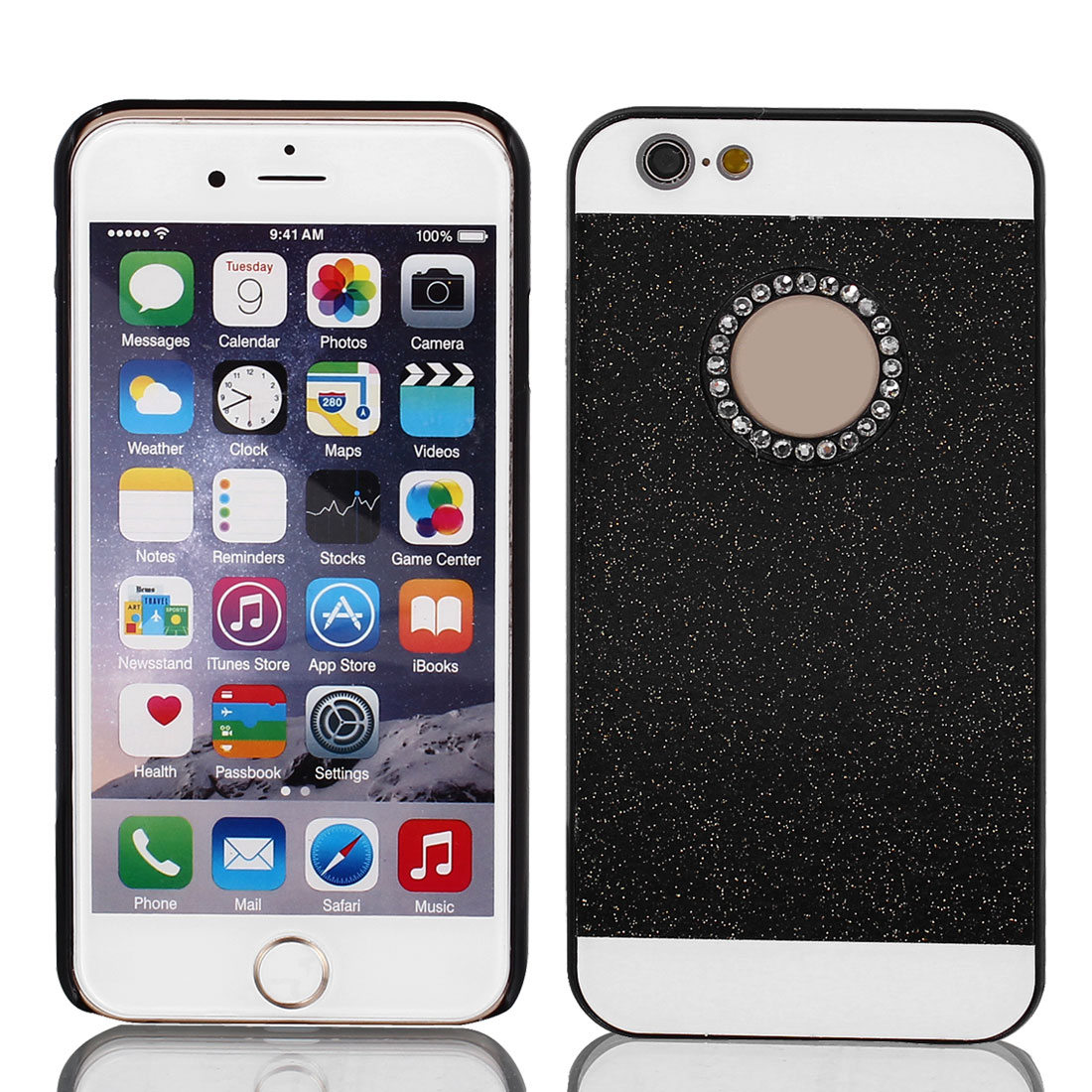 Hard Plastic Skin Case Bumper Cover Black for Apple iPhone 6 Plus 5.5""