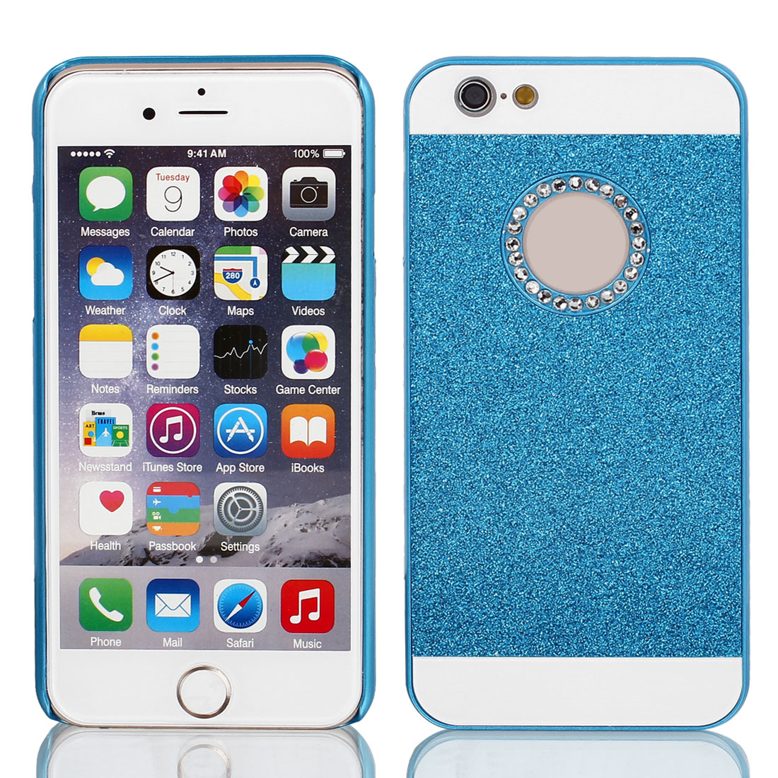 Hard Plastic Skin Case Bumper Cover Blue for Apple iPhone 6 Plus 5.5""