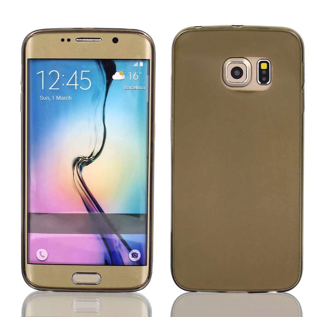 TPU Ultra Thin Case Cover Transparent Clear Gray for Galaxy S6 Edge G9200 G9250