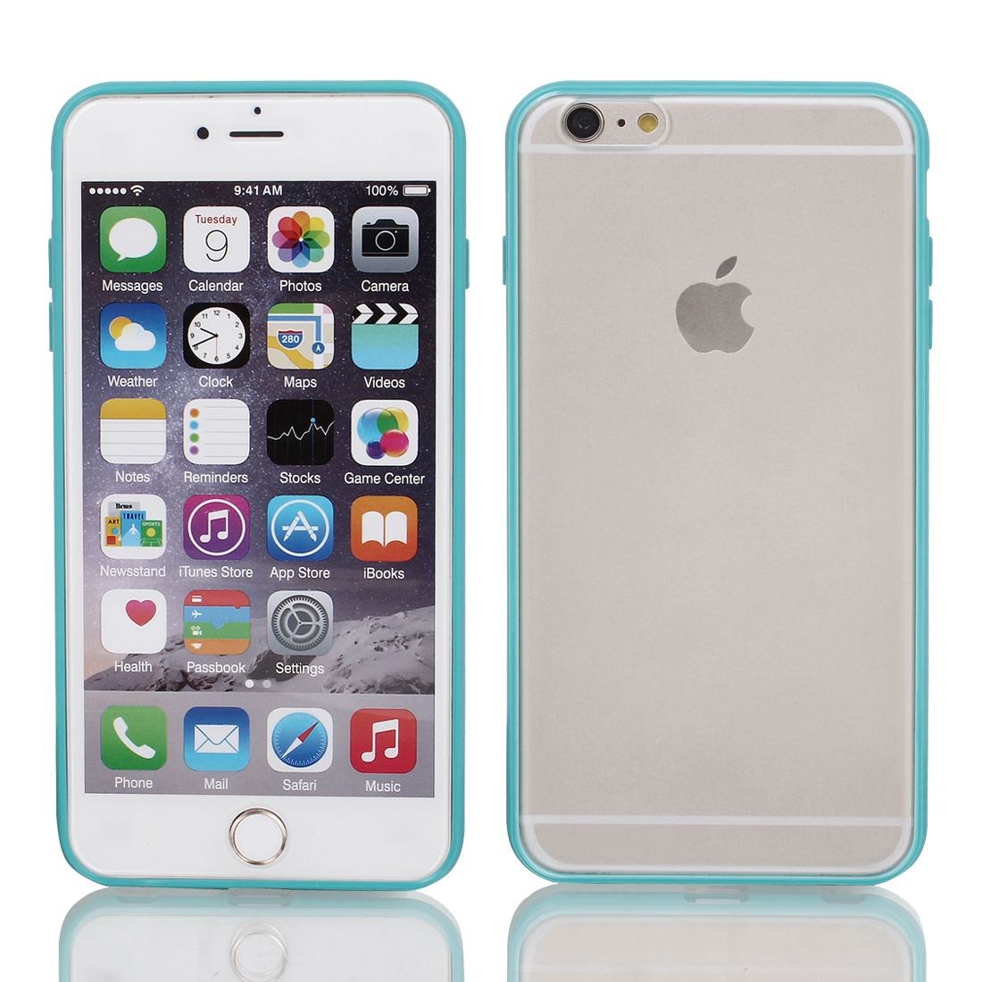 """Frosted Slim Transparent Clear Teal Hard Case Cover for Apple iPhone 6 4.7"""""""