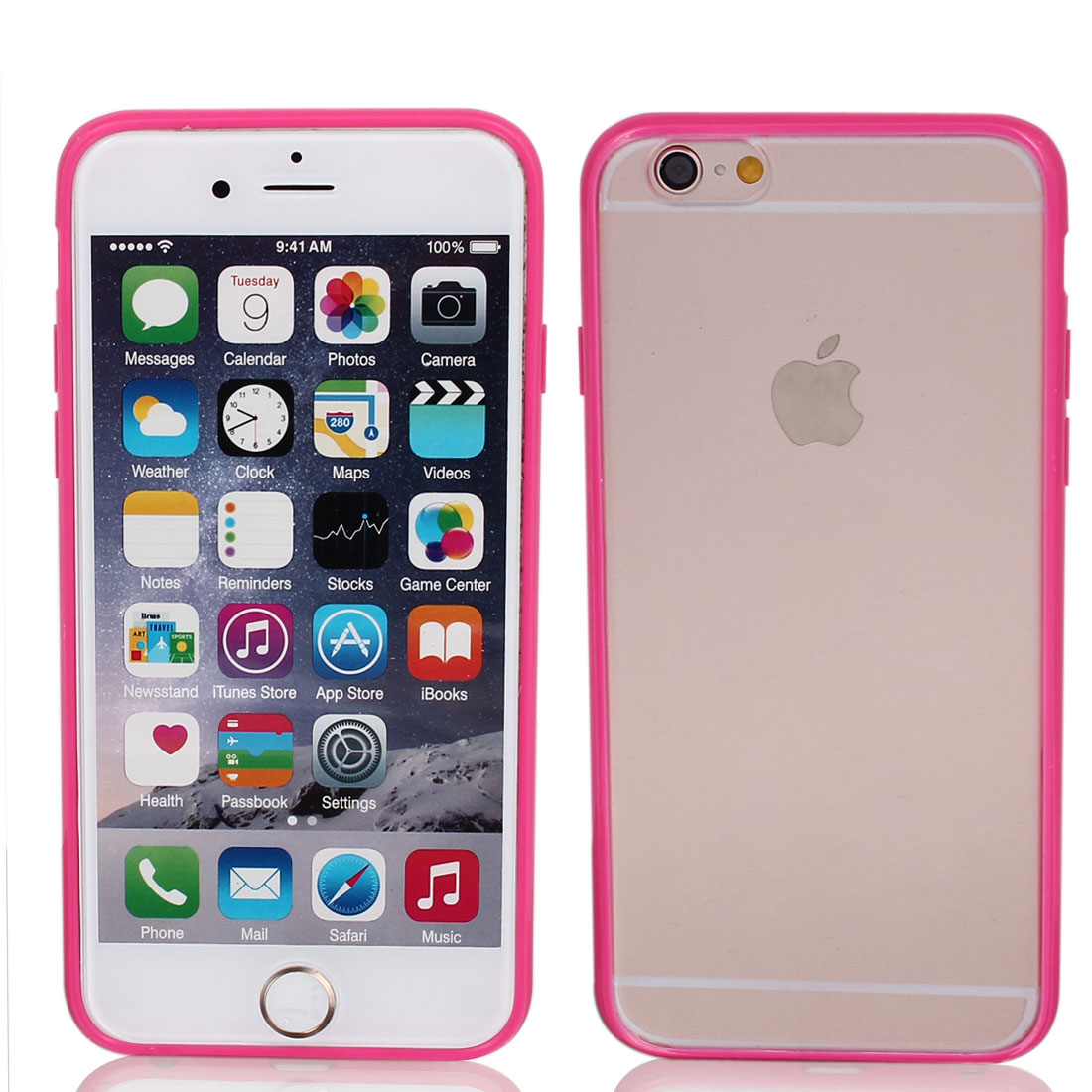 Frosted Slim Transparent Clear Pink Hard Case Cover for Apple iPhone 6 4.7""
