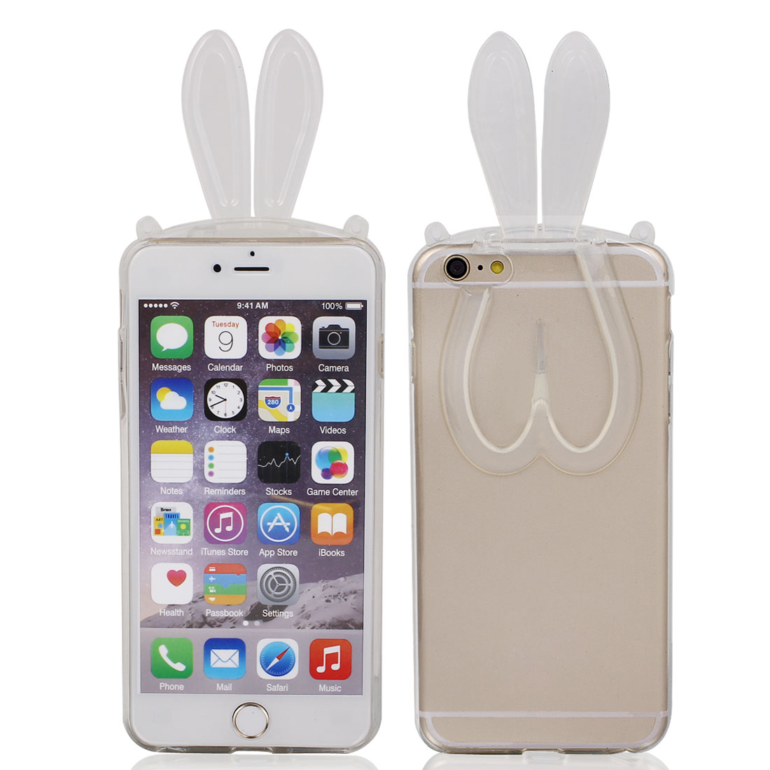 Silicone Rabbit Ears Design Phone Protector for iPhone 6 Plus 5.5""