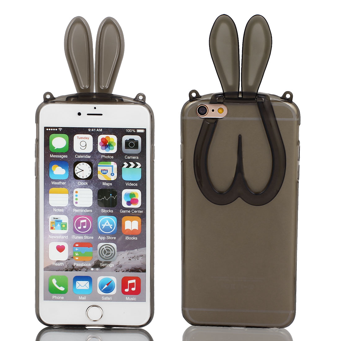 Rabbit Ears Design Soft Phone Skin Cover for iPhone 6 Plus 5.5""