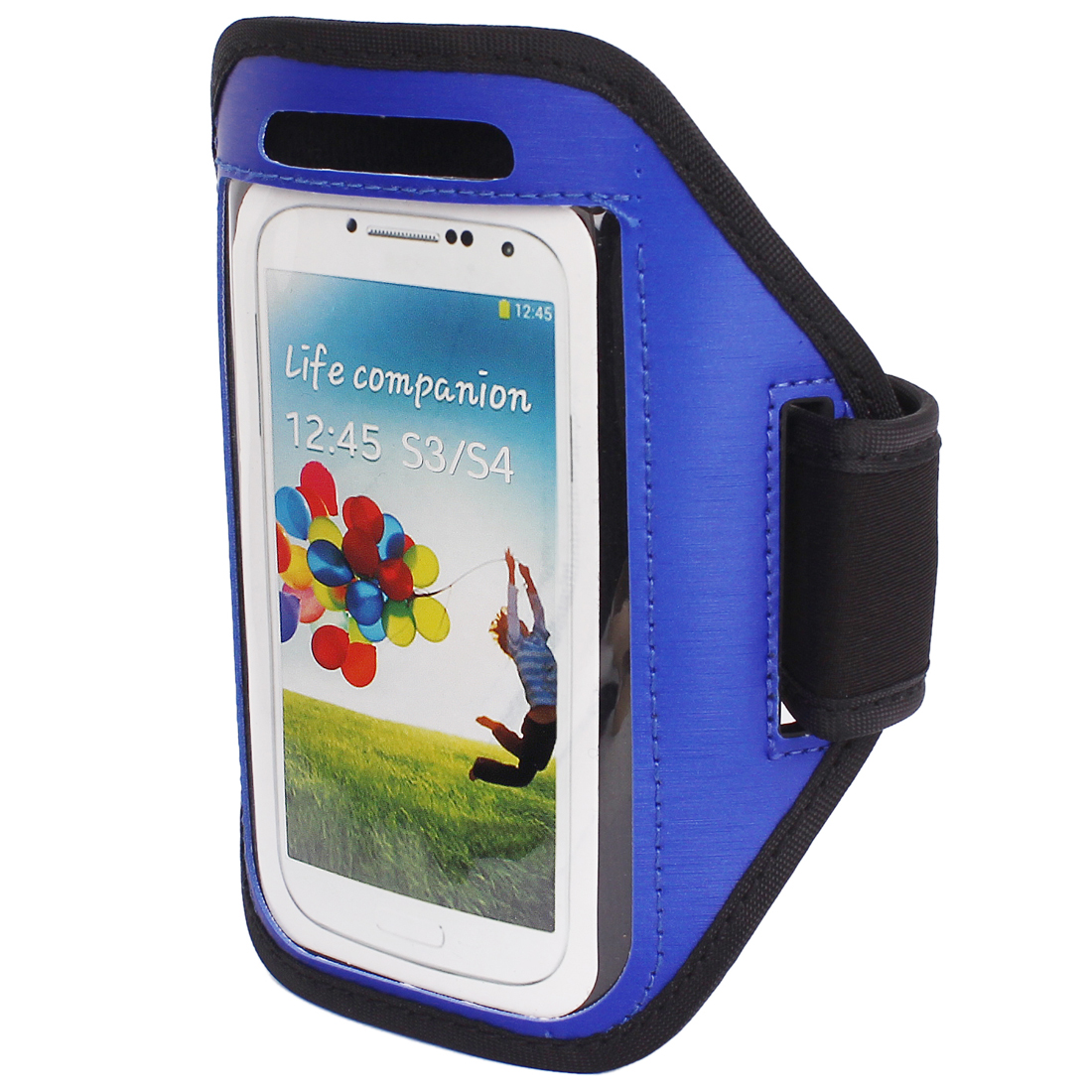 Outdoor Jogging Running Sports Armband Case Cover Blue for S3 S4 i9300 i9500