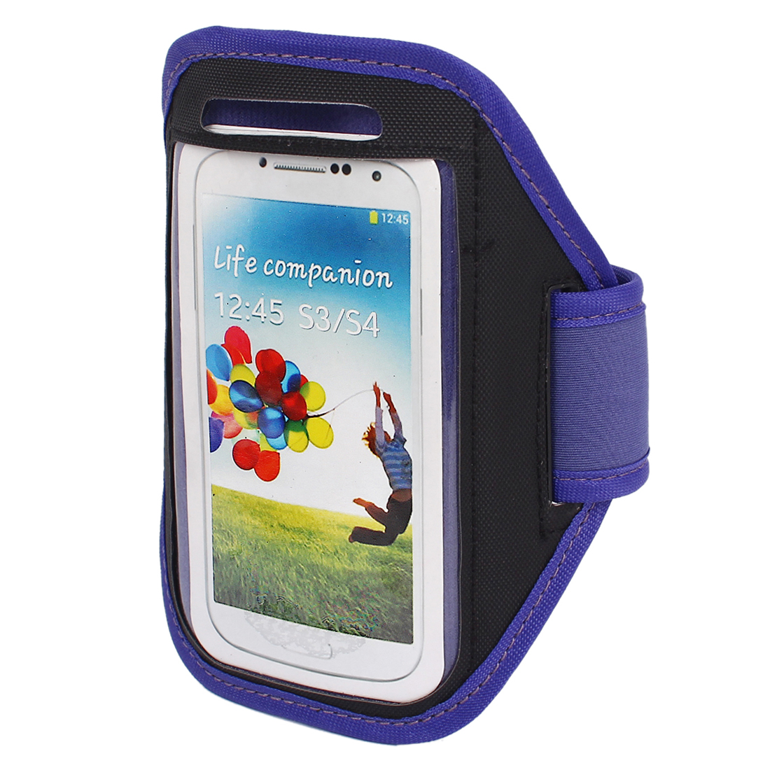 Outdoor Jogging Running Sports Armband Case Cover Purple for S3 S4 i9300 i9500