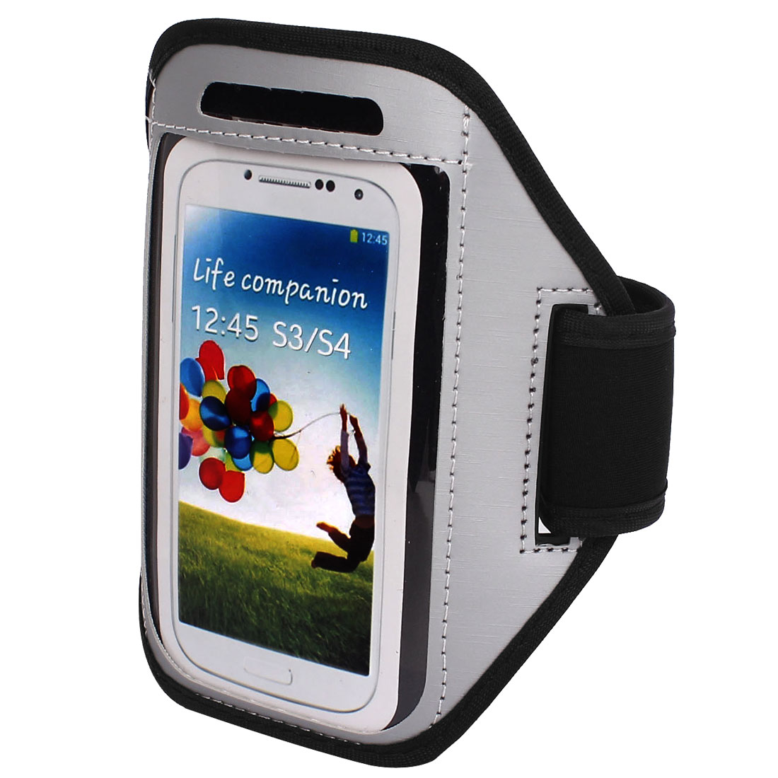 Outdoor Jogging Running Sports Armband Case Cover Gray for S3 S4 i9300 i9500