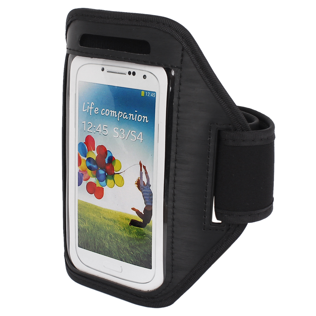 Outdoor Jogging Running Sports Armband Case Cover Black for S3 S4 i9300 i9500