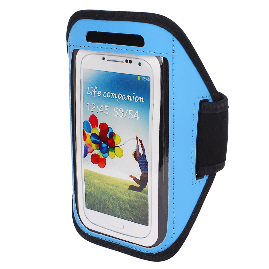 Outdoor Gym Running Sports Armband Case Cover Blue for S3 S4 i9300 i9500