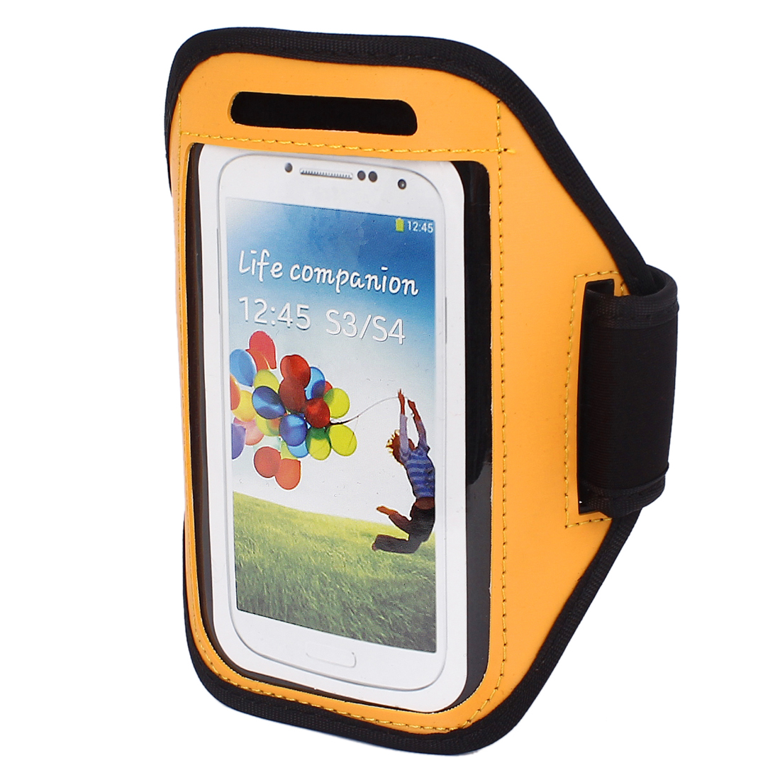 Outdoor Jogging Running Sports Armband Case Cover Orange for S3 S4 i9300 i9500
