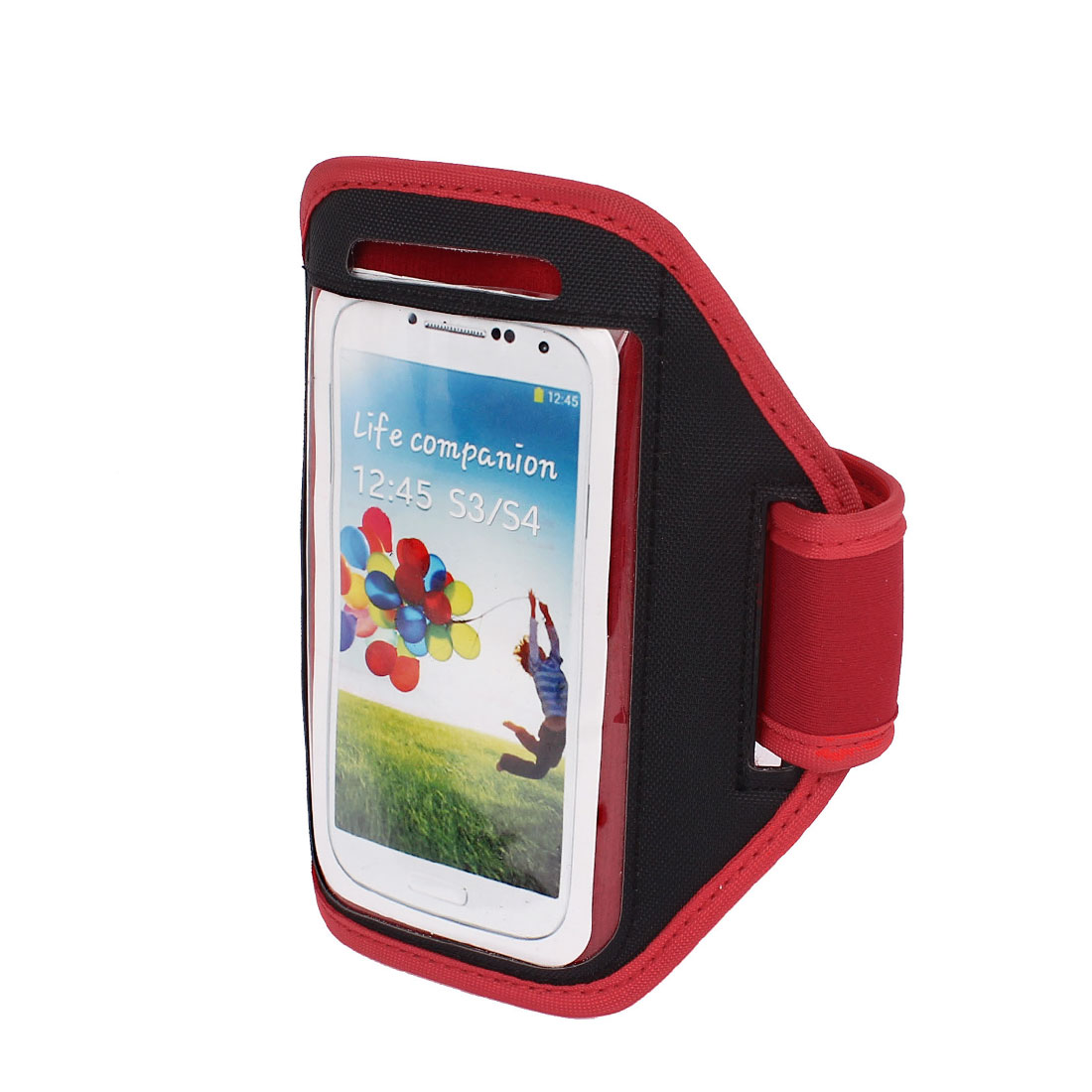 Outdoor Jogging Running Sports Armband Case Cover Red for S3 S4 i9300 i9500
