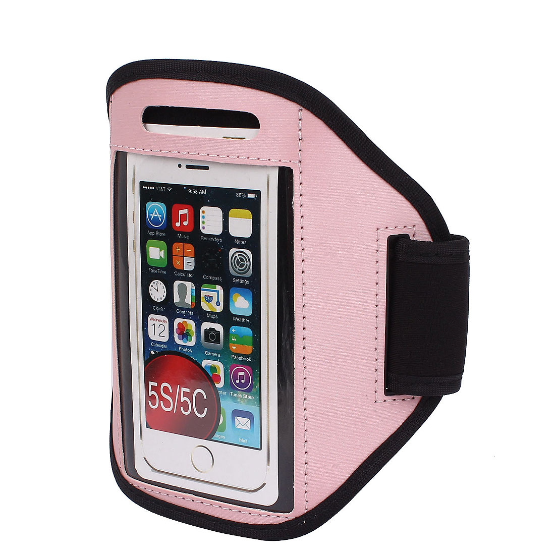 Sports Running Jogging Gym Armband Case Cover Holder Pink for iPhone 5 5C 5S