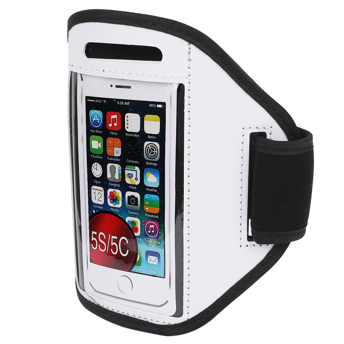 Sports Running Jogging Gym Armband Case Cover Holder White for iPhone 5 5C 5S