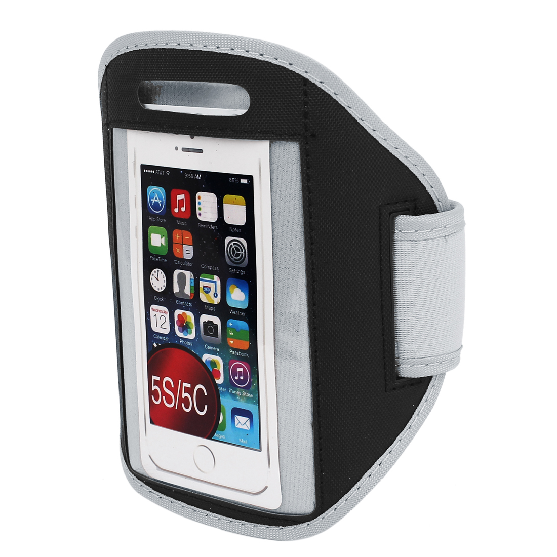 Outdoor Sports Jogging Gym Armband Case Cover Holder Black for iPhone 5 5C 5S