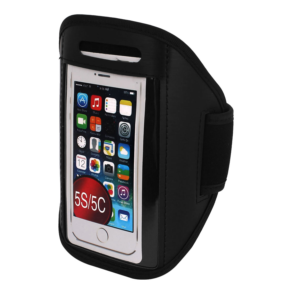 Sports Running Jogging Gym Armband Case Cover Holder Black for iPhone 5 5C 5S