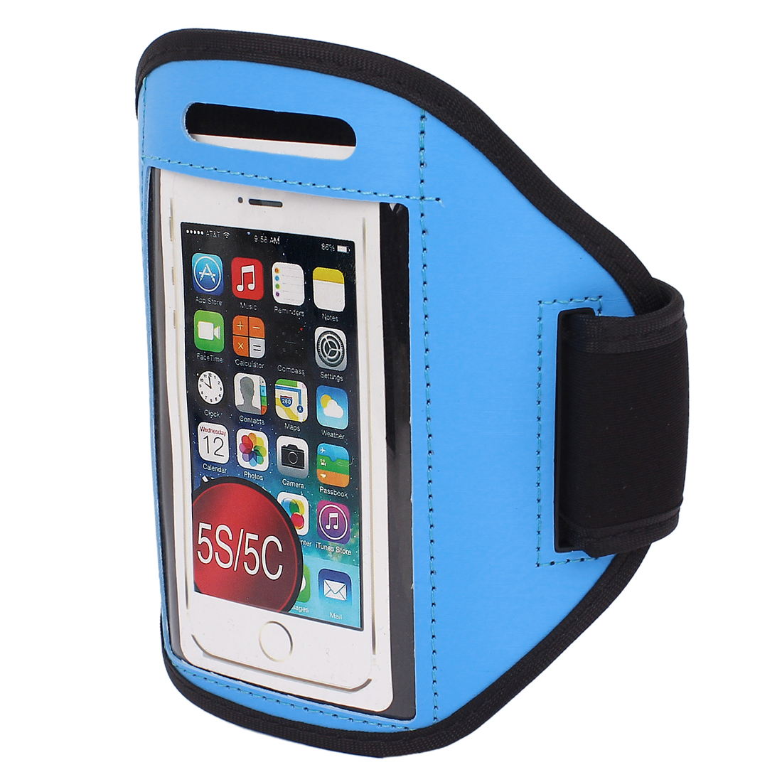 Outdoor Sports Jogging Gym Armband Case Cover Holder Blue for iPhone 5 5C 5S