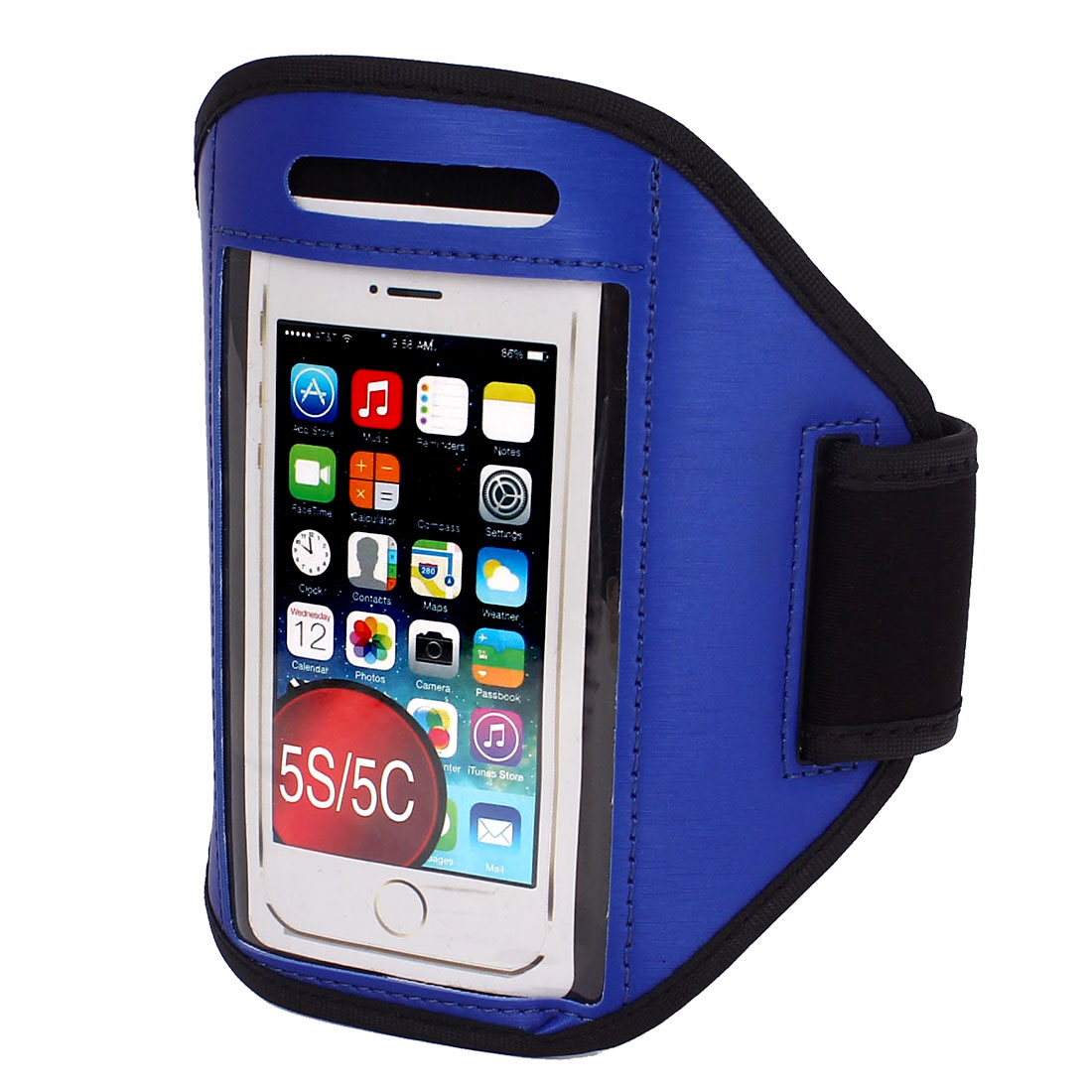 Sports Running Jogging Gym Armband Case Cover Holder Blue for iPhone 5 5C 5S