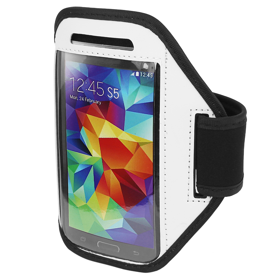 Sports Running Gym Armband Arm Band Case Cover Holder White for Mobile Phones S5