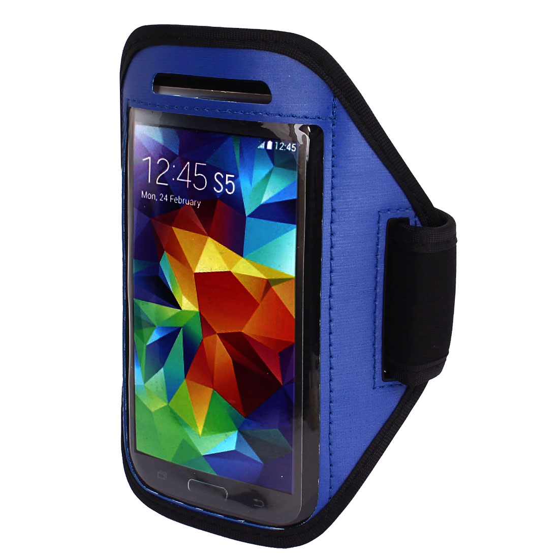 Sports Running Gym Armband Arm Band Case Cover Holder Blue for Mobile Phones S5