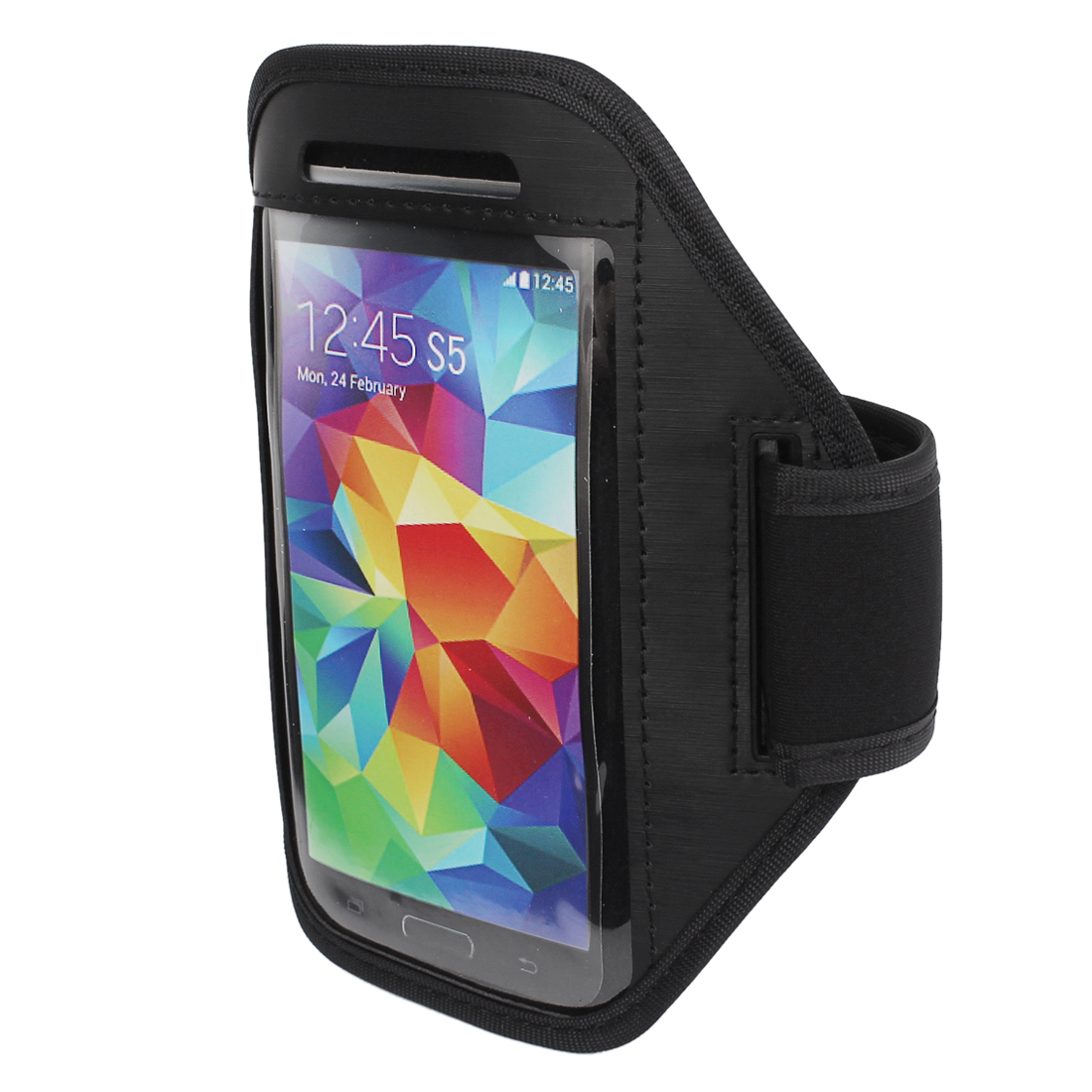 Sports Running Gym Armband Arm Band Case Cover Holder Black for Mobile Phones S5